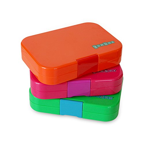 yumbox zucca orange leakproof bento lunch box container for kids home garde. Black Bedroom Furniture Sets. Home Design Ideas