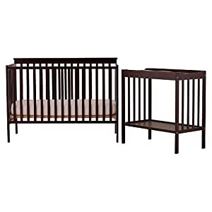 Stork Craft 04521-009 Milan Convertible Crib and Changer Combo Set (Espresso)