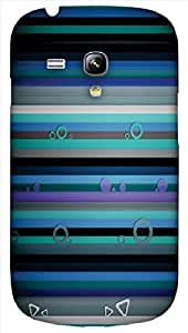 Timpax protective Armor Hard Bumper Back Case Cover. Multicolor printed on 3 Dimensional case with latest & finest graphic design art. Compatible with only Samsung I8190 Galaxy S III mini. Design No :TDZ-20639