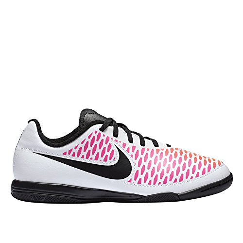 Nike - JR Magista Onda IC - 651655106 - Couleur: Blanc-Noir-Rose - Pointure: 38.5