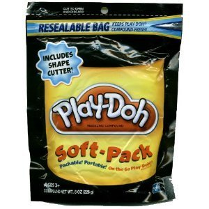 Play-Doh Soft Pack and 1 Shape Cutter - Black - 1