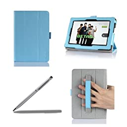 ProCase Previous 2013 Kindle Fire HD 7 Case with bonus stylus pen - Tri-Fold Leather Stand Cover for Previous Generation Kindle Fire HD 7 inch Tablet (will only fit New Kindle Fire HD 7 2013 released, 3rd Gen HD 7) (Blue)