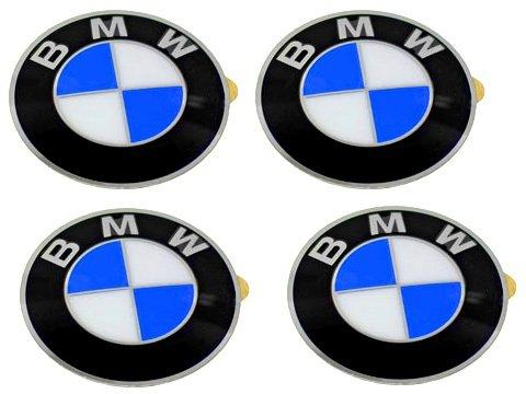 Bmw Wheel Center Cap Emblems (4) Insignia Badge 64.5Mm Oem E46 E60 E90 E92