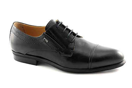 NERO GIARDINI 4201 nero scarpe uomo eleganti cerimonia derby puntale 46