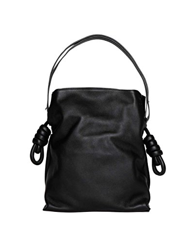 loewe-womens-33430k631100-black-leather-shoulder-bag