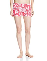 Rattrap Women's Cotton Shorts (COREBOXPNK_Pink Flr Aop_Large)