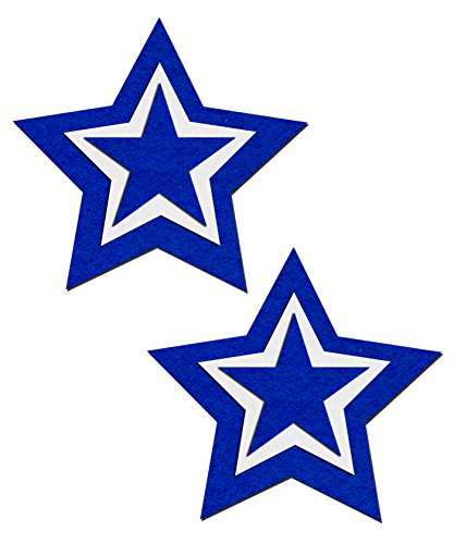 Dallas Football Rockstar - Blue And White Nipple Pasties By Pastease O/S