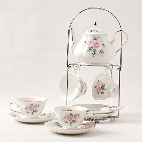 ufengkeHand-Painted Pink Flower Bone China English Tea Set Tea Service Coffee Cup (China Coffee Service compare prices)