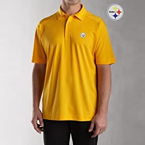 NFL Pittsburgh Steelers Mens CB DryTec Genre Polo, College Gold by Cutter & Buck