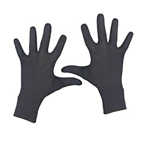 Terramar Adult Thermasilk Glove Liner (Black, Small)