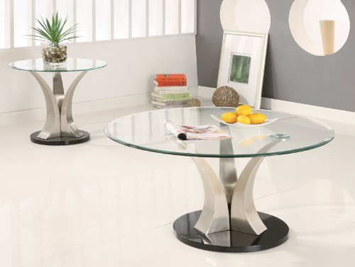 Cheap Berdine End Table with Glass Top (B003XR8720)