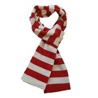TrendsBlue Soft Knit Striped Scarf - Red & White
