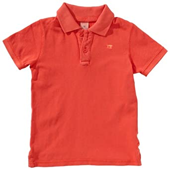 Scotch Shrunk Jungen Poloshirt 13440655500 garment dyed basic short sleeve polo  Gr. 164  (14), Rot (45 - spicy pepper )