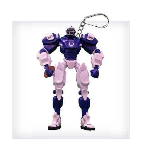 """Indianapolis Colts 3"""" Team Cleatus FOX Robot NFL Football Key Chain Version 2.0"""