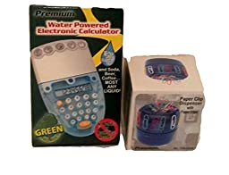 Desk Organizer, Paper Clip Dispenser and Water Powered Calculator/colored Clips Included