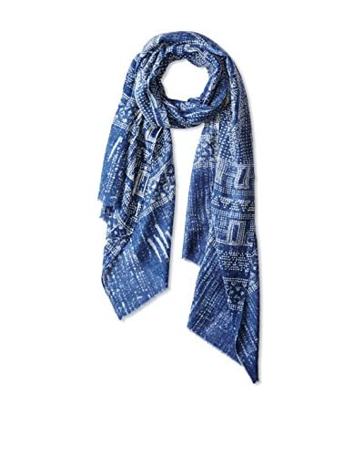 Saachi Women's Rain of Shapes Scarf, Navy, One Size