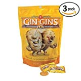 Ginger People Gin-Gins Natural Hard Candy - 3 pack - 3oz Bags - Great for morning sickness and nausea!