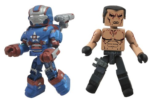 Diamond Select Toys Series 49 Marvel Minimates Iron Man 3: Iron Patriot and Extremis Action Figure