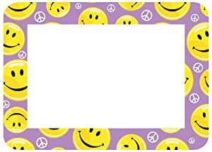 Fraimz by Fodeo Trendy Kidz 4 x 6 Inches Photo Area Peel and Stick Adhesive Picture Frame/Dry Erase Board Smiley Face Purple