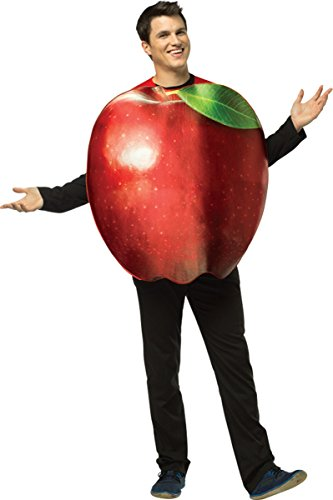 Morris Costumes Get Real Apple Adult One Piece Costume