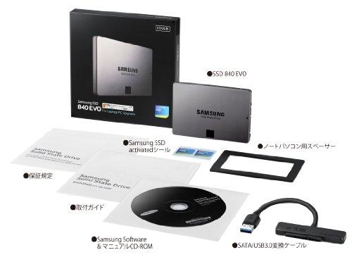 Samsung SSD840EVO ノートパソコンキット250GB MZ-7TE250L/IT (国内正規代理店 ITGマーケティング取扱い品)