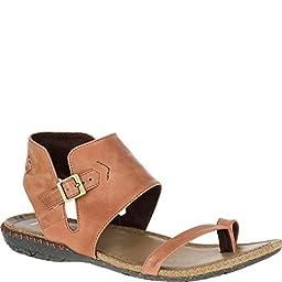 Merrell Women\'s Whisper Post Sandal, Tan, 10 M US