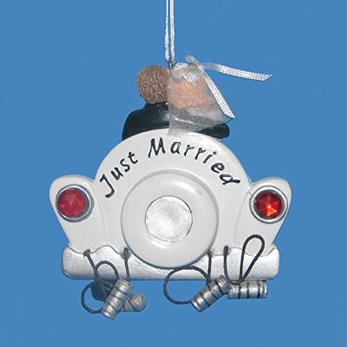 Just Married Wedding Car Ornament