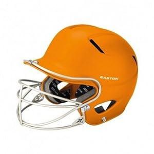 Easton Stealth Grip Orange Batters Helmet w  Mask Fits 7-1 8 - 7-7 8 Hat Size by Easton