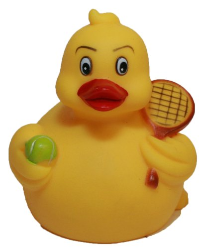 Rubber Ducks Tennis, Waddlers Brand Rubber Duckies That Races Upright, Sports Tennis Themed Bathtub Toy Birthday Baby Shower Mother'S Day Father'S Day Gift, All Dept. Gift Tennis Lovers front-705739