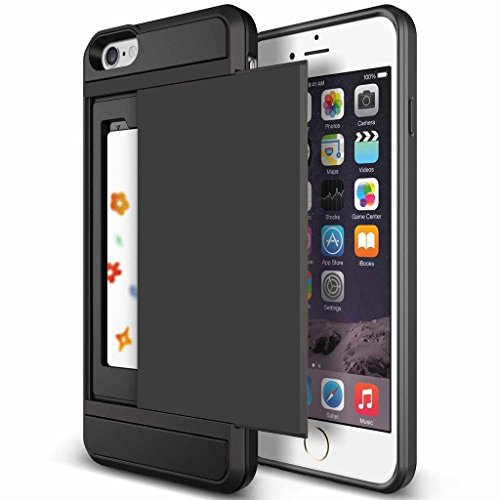Superstart Black Shockproof Resistant Hard PC + Soft TPU Rubber Bumper Cover for iPhone 6 plus/6s plus 5.5 Inch