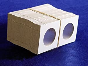 Bcw Products - 100 2x2 Cardboard Coin Holders HALF DOLLARS - Just fold and Staple