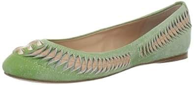 Belle by Sigerson Morrison Women's Ansli Flat,Light Green/Pinkish,6 M US