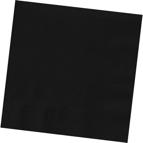 Jet Black Luncheon Napkins (50ct) - 1