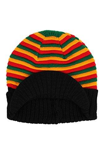 Rasta Gestrickt Gestreifte Beanie-mütze Ski Hut Kappe - Rasta, Einfarbig
