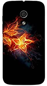 Significant multicolor printed protective REBEL mobile back cover for Motorola Moto G (2014) 1st Gen D.No.N-L-14605-MG1