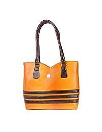 JG Shoppe Orange Hand-held Bag