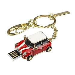 Quace Cool Red Metal Car 16 GB USB Pen Drive
