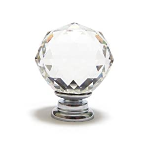 Tinksky 10 pcs Unique Clear Crystal Glass Kitchen Cupboard Door Drawer Knob Door Handle from Tinksky