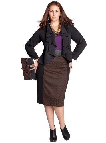 Discount IGIGI by Yuliya Raquel Plus Size Farrah Jacket in Black