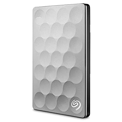 Seagate Backup Plus Ultra Slim 2TB Portable Drive (Gold) with 200GB of Cloud Storage & Mobile Device Backup