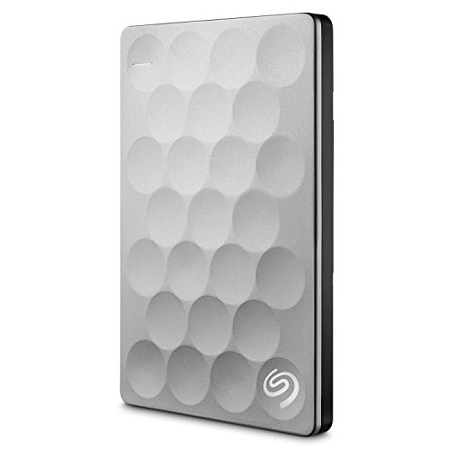 Seagate Backup Plus Ultra Slim 1TB Portable External Hard Drive, Platinum (STEH1000100)