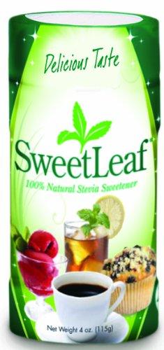 SweetLeaf Stevia Powder, 4-Ounce Shaker Jars (Pack of 2)