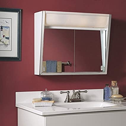 Jensen Medicine Cabinet Flair 28W x 19.5H in. Surface Mount Medicine Cabinet 327LP by Broan-NuTone