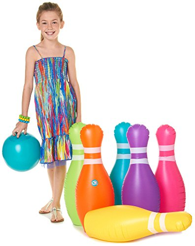 Discovery Kids Jumbo Inflatable 7-Pc. Bowling Set No Size Multi front-571583