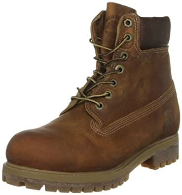 "Timberland Mens Heritage 6"" Premium Boot Burnt Orange Worn Oiled All Leather 6.5M"
