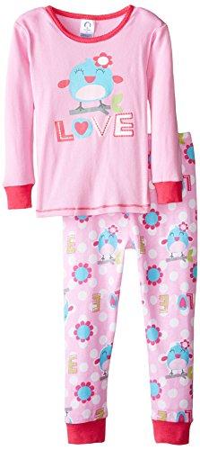 Gerber Little Girls' 2 Piece Cotton Pajama, Bird, 4T