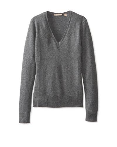 Cashmere Addiction Women's V-Neck Cashmere Sweater