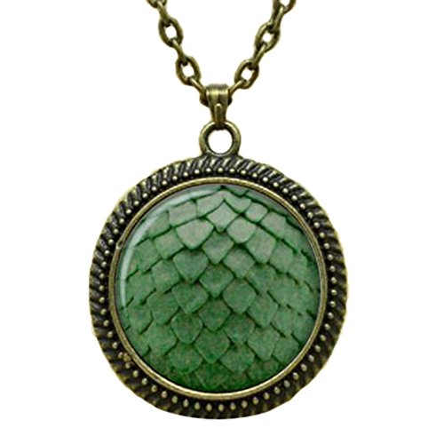Light Green Dragon Egg Necklace