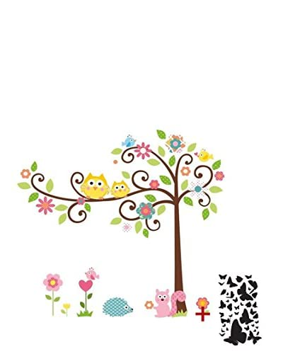 Ambience Live Vinilo Decorativo Tree and owl on a tree