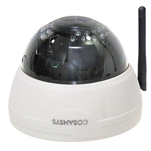 COSANSYS 720P P2P Netzwerk Kamera IP 4mm Kamera Überwachungskamera drahtlose Fernbedienung 20m Webcam 30 Stück Infrarot Leuchten Bewegungsmelder IRCUT Wireless Überwachungskamera Tag / Nachtsicht SD Card Unterstützung Ralink5350 CUP